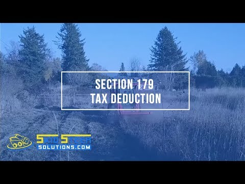 Section 179 Tax Deduction For Equipment And Attachment Purchases
