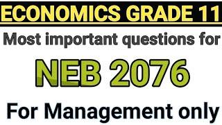 Gambar cover ECONOMICS Important  Questions for 2076 (VVVVI)
