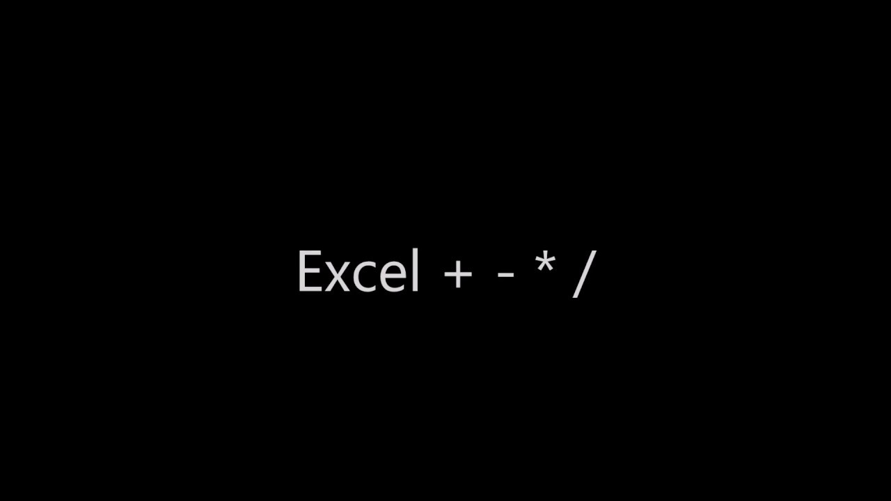 Excel pluss minus gange dele