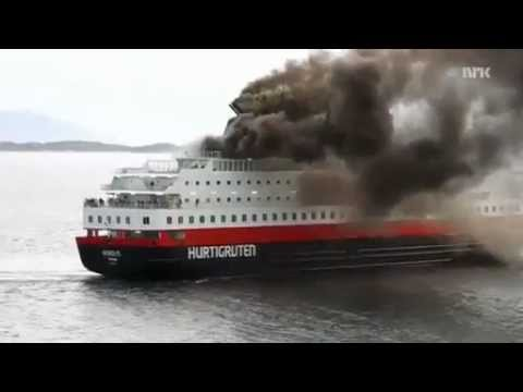 Ms Nordlys Cruise Ship Fire Youtube