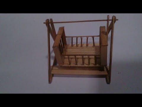 Cara Membuat Miniatur Ayunan Bayi  Dari Stik Es Krim