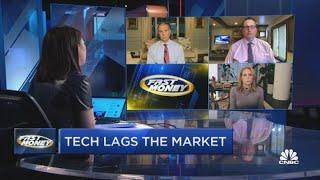 Tech stocks lagging the market…