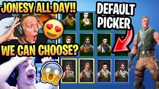 "Streamers React to *NEW* CUSTOM ""DEFAULT SKIN"" PICKER in Fortnite Season 10!"
