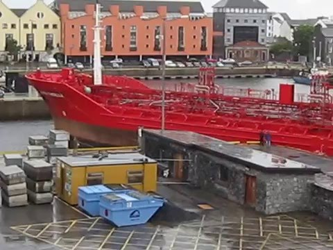Vessel leaving Galway Harbour