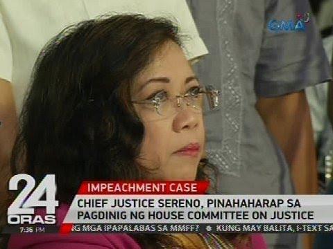 Chief Justice Sereno, pinahaharap sa pagdinig ng House Committee on Justice