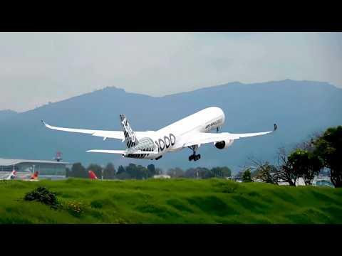 A350 - 1000 Taking Off Bogota.