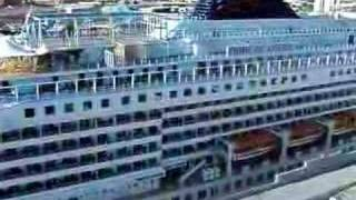 Our gigantic cruise ship...