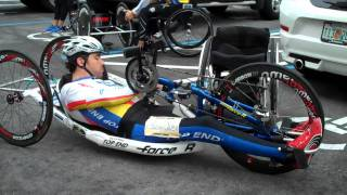 How to Transfer into and out of an Invacare Top End Force R Handcycle