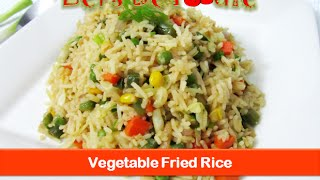 Fried rice recipe/Indian Chinese vegetarian dinner food & lunch box recipes ideas-let's be