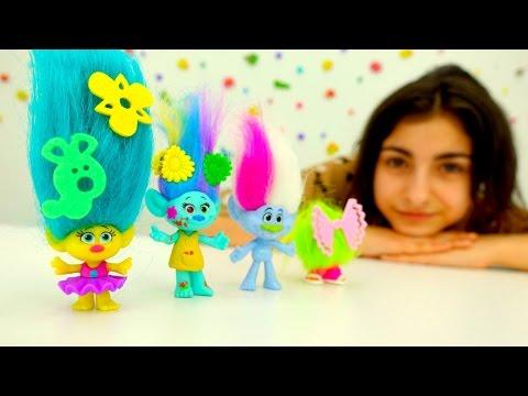 Игры для девочек и игрушки #Тролли ХАСБРО: Салон красоты и прически. Лучшие #мультики для девочек