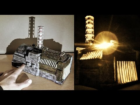 constructing a 1:1000 scale model of the Chernobyl NPP / Sarcophagus [model building]
