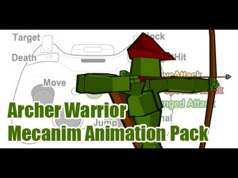 Unity3d Archer Warrior Mecanim Animation Pack