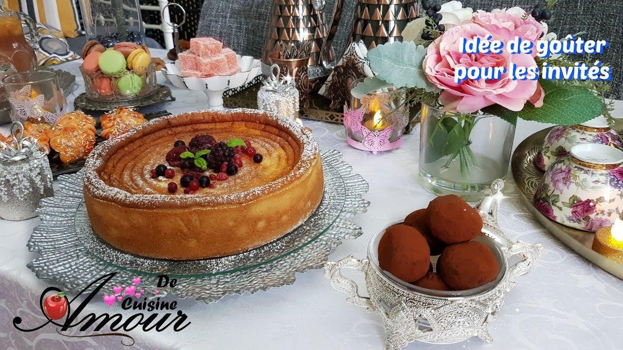 idée goûter tarte au fromage blanc, truffes au chocolat, biscuit sec et boisson - YouTube