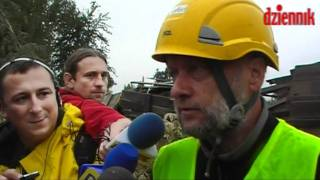 Wyburzenie komina w Lublinie