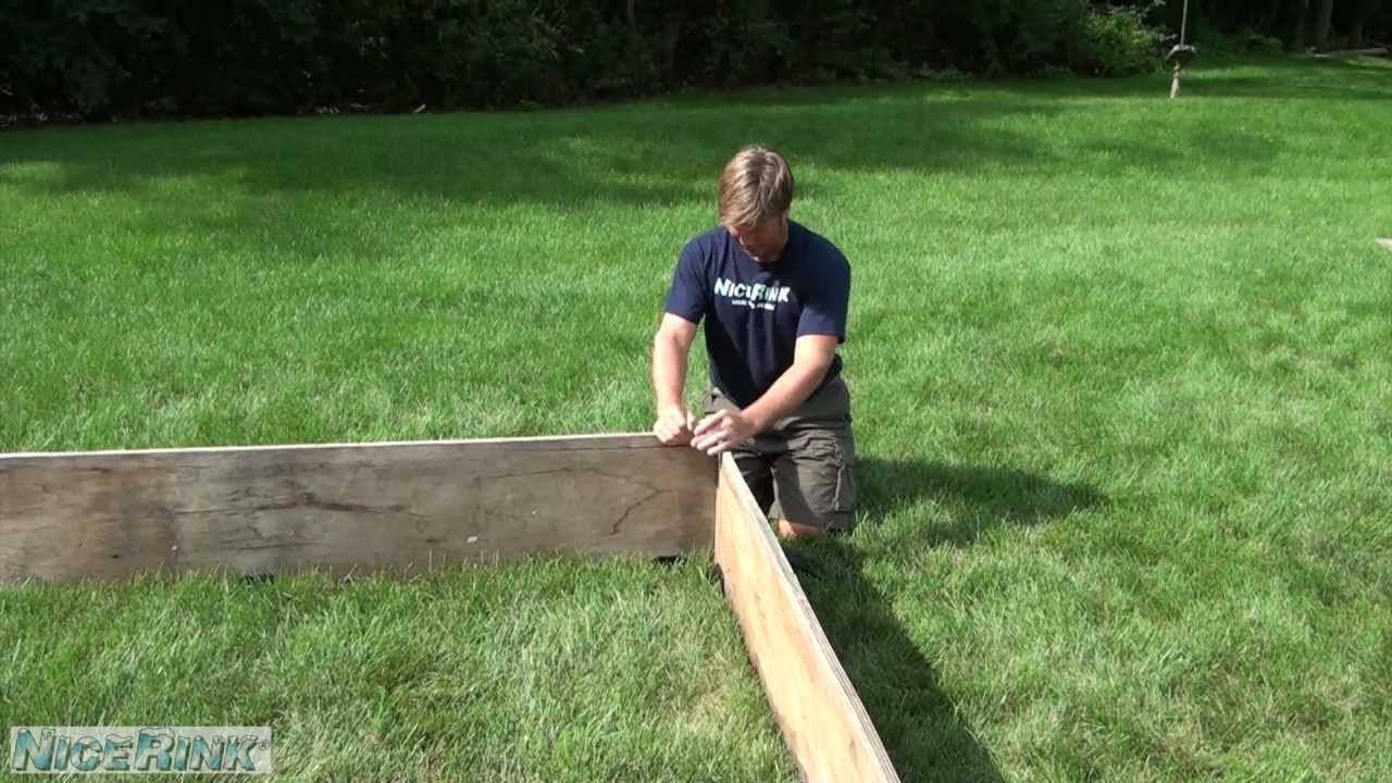 How To Install Wood Boards For Your Backyard Ice Rink NiceRink   YouTube