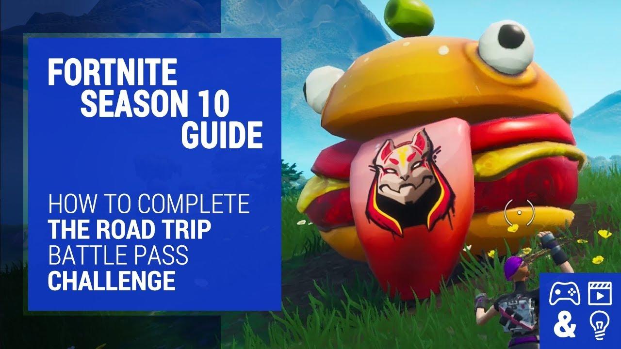 Fortnite Season 10 Road Trip Challenge Guide Durr Burger Dinosaur Stone Head Statue Locations