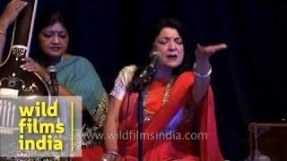 Indian classical singer Vidushi Rita Ganguly performs in Delhi