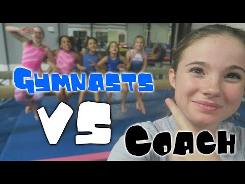 Gymnasts VS Coach Gymnastics Obstacle Course| Rachel Marie