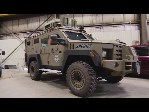 Small town police gear up with big armor