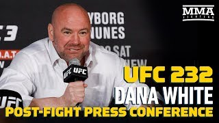 Download Video UFC 232: Dana White Post-Fight Press Conference - MMA Fighting MP3 3GP MP4