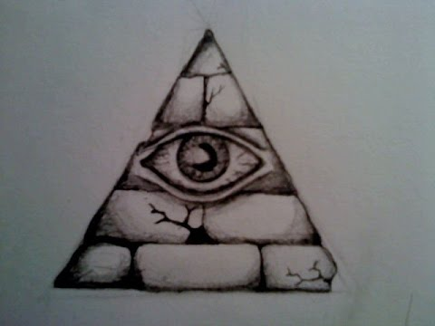Illuminati Triangle Eye Drawing How to draw illuminati...