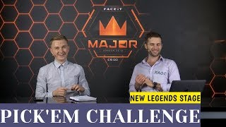 PICK'EM НА 2 ЭТАП FACEIT Major 2018 от аналитиков SLTV (New Legends Stage)