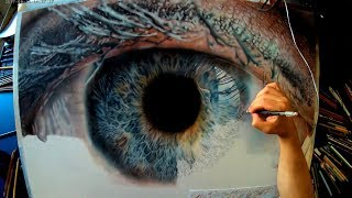 How to draw an Eye - Hyperrealistic Pencil drawing Timelapse