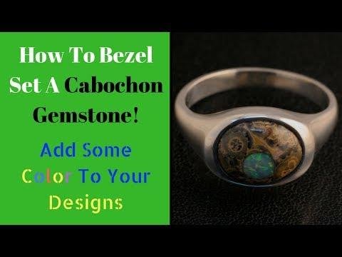 How to Bezel Set A Cabochon Gemstone - Start to Finish - (2018)
