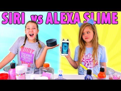 SIRI VS ALEXA PICKS MY SLIME INGREDIENTS CHALLENGE!!