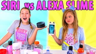 SIRI VS ALEXA PICKS MY SLIME INGREDIENTS CHALLENGE!!