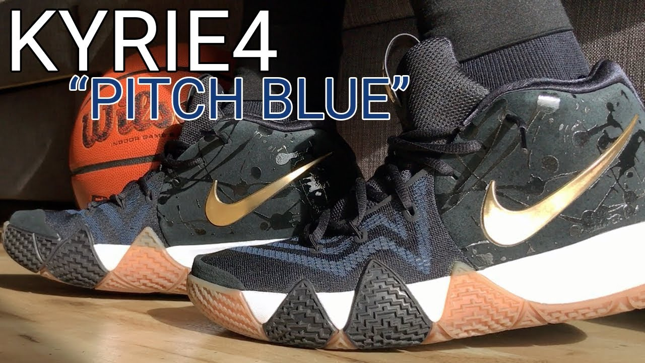premium selection 9c3fa 7889d Nike Kyrie 4 Pitch Blue - Unboxing, On Feet, & Overview