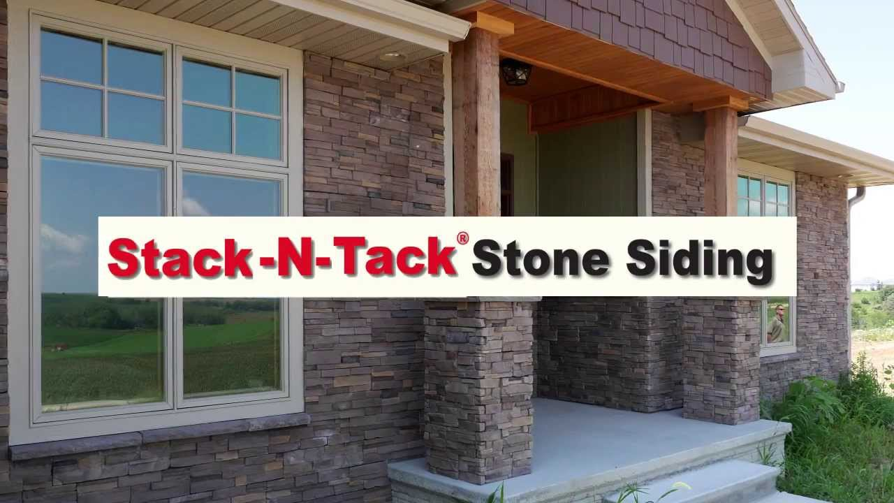 Stack N Tack Stone Siding Youtube