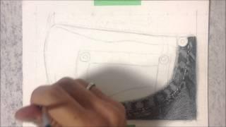 Desenho Realista - Textura de jeans