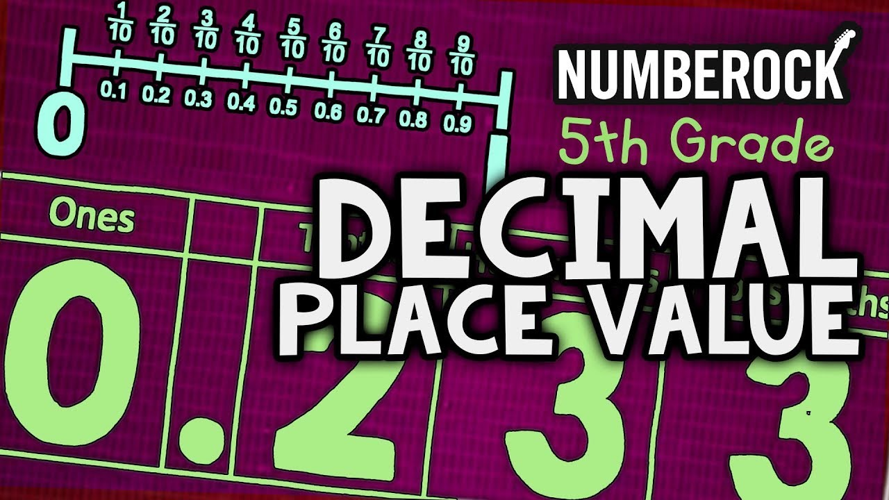 Decimal Place Value Song   Tenths and Hundredths   5th Grade - YouTube [ 720 x 1280 Pixel ]