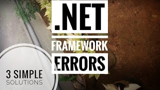 How to fix .Net framework unhandled exception error fix