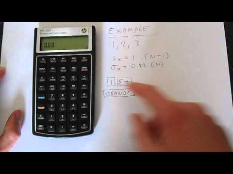 How to Calculate Standard Deviation on a HP 10BII Calculator