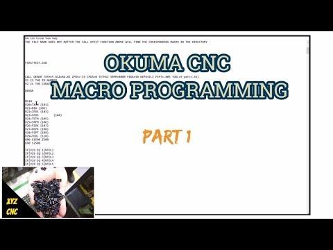 macro programming on an Okuma CNC - Смотреть видео бесплатно