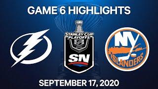 NHL Highlights   3rd Round, Game 6: Lightning vs. Islanders - Sep 17, 2020