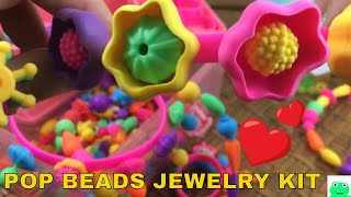 Pop Beads Jewelry Making Kit made by AXEL ADVENTURES Easy DIY Kids Jewelry Kit | Jelly Frog Toys