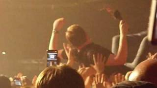 Ricky Wilson crowd surfing from Webster Hall's bar