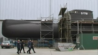Submarine U 29 (S 178) at Shipyard Peenewerft