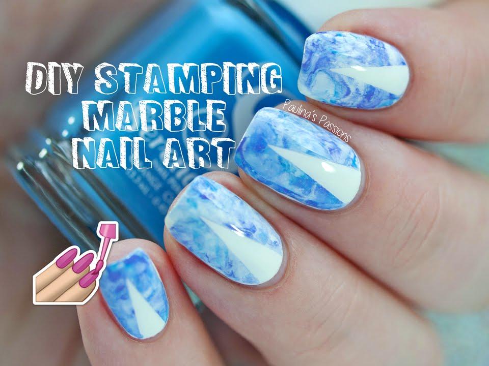 DIY Stamping Marble Nail Art - YouTube