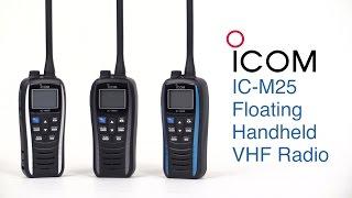icom ic m25 floating handheld vhf radio west marine quick look
