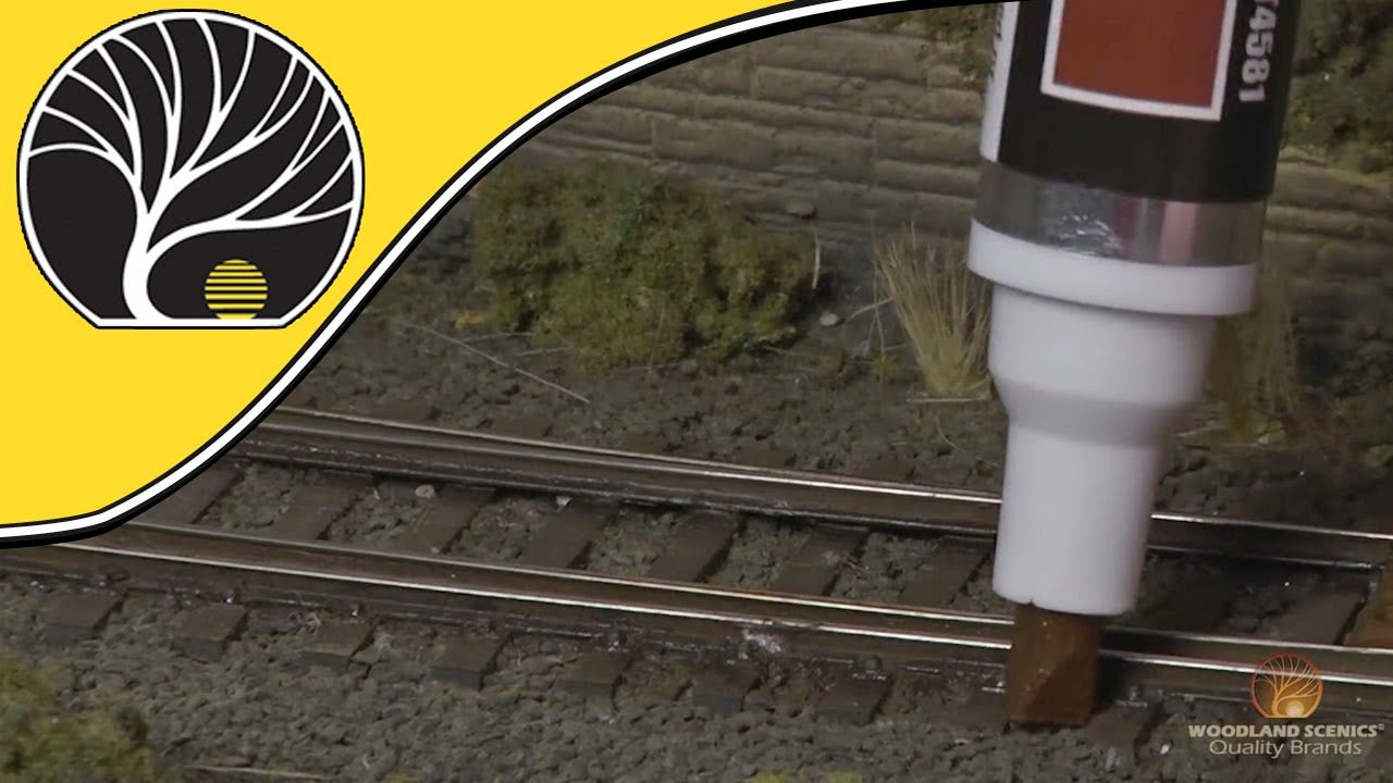 How To Remove Paint From Metal >> Track Painters - Model Railroad Track Weathering Tool | Woodland Scenics - YouTube