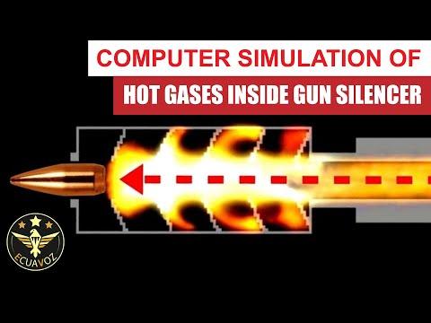 Hot Gases Inside Gun Silencer - Powder Toy