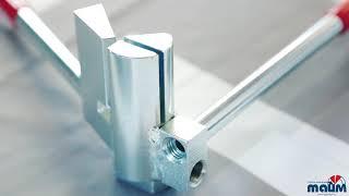 Обзор инструмента для гибки шин от Рехау. Шиногиб от Rehau. Самостоятельное изготовление креплений.