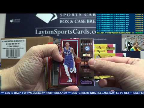 Dual NBA Case Break – 2017 18 Panini Contenders & Absolute Basketball – TIERED RANDOM TEAMS