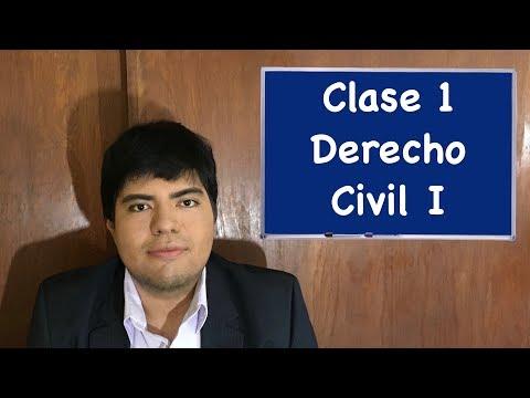 Derecho Civil I Clase 1