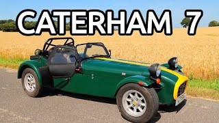 caterham 7 supersprint onboard camera and walk around