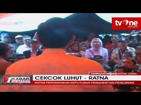 Detik-Detik Luhut Pandjaitan Cekcok Dengan Ratna Sarumpaet di Danau Toba, Sumut